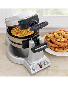 Make two different dishes at once with this express waffle and omelete maker! Get it here: http://www.bhg.com/shop/waring-waring-pro-breakfast-express-belgian-waffle-and-omelet-maker-wmr300-p5089605482a7534baae0285e.html