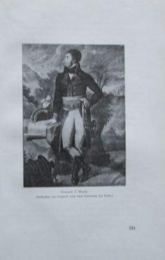 GENERAL HARDY 1914 Porträt Kolbe alter Druck antique Print Lithographie