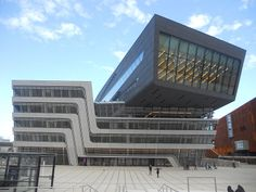 The Library and Learning Center of the Vienna University of Economics and Business International School, Zaha Hadid, Modern Buildings, Learning Centers, Economics, Vienna, Austria, University, Facades