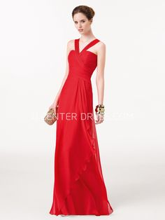 $126.79-Charming Ella Red Chiffon Long Prom Dress. http://www.ucenterdress.com/charming-ella-prom-dress-pMK_300779.html.  Shop for cheap prom dresses, party dresses, night dresses, maxi dresses, little black dresses, junior prom dresses, girls prom dresses, designer prom dresses for sale. We have great 2016 prom dresses on sale. Buy prom dresses online at UcenterDress.com #prom #dress today!