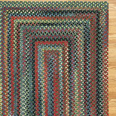Plymouth Concentric Rectangle Braided Rug Parakeet