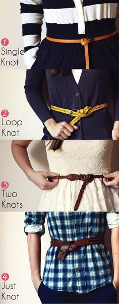knots for belt--this just saved my outfit.