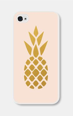 Blush Pink and Gold Pineapple iPhone 5c Case