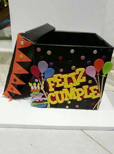 Caja Feliz Cumpleaños Hecho A Mano Regalos - $ 110.00 en Mercado Libre