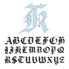 Just finished the uppercase blackletter alphabet. Have been putting these…
