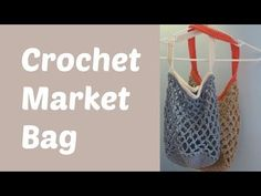 Crochet Market Bag - Crafting With Claudie - These little bags are great for going to the farmer's market or even to take to the beach as a small tote. The mesh pattern allows for them to look small, but hold lots of things!