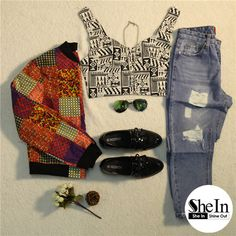 A casual day does not mean you cannot look trendy and cute! -SheIn