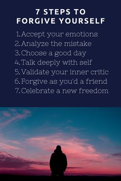 Although self forgiveness is not a one-size-fits-all process, here are seven effective and helpful steps to forgive yourself. Happiness Blog, Happiness Project, Positive Psychology, Positive Quotes, Note To Self, Self Love, Deep Talks, New Freedom, Forgiveness Quotes