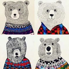 LOVE how these bears come out . class, on paper 3 sessions . - LOVE how these bears come out … amazing! class, on paper 3 sessions. Thanks again - Winter Art Projects, School Art Projects, Texture Art Projects, Classroom Art Projects, Drawing Projects, 2nd Grade Art, Grade 2, Creation Art, Ecole Art