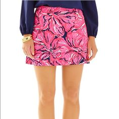 Lilly Pulitzer skirt/skort *MAKE A REASONABLE OFFER* Lilly Pulitzer skirt with pockets and shorts built in! Beautiful floral pattern, wish I could keep it! NWOT •No trades  •No low-balling  •Make an offer! Prices are negotiable  Thanks for stopping by my closet!  Lilly Pulitzer Skirts