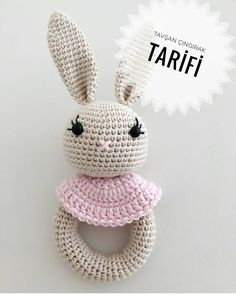 ・ ・ ・ How difficult it is to prepare and share the recipe, build . Crochet Baby Toys, Crochet Mouse, Crochet Animals, Crochet Hats, Crochet Bunny Pattern, Crochet Patterns Amigurumi, Crochet Rings, Newborn Toys, Baby Rattle