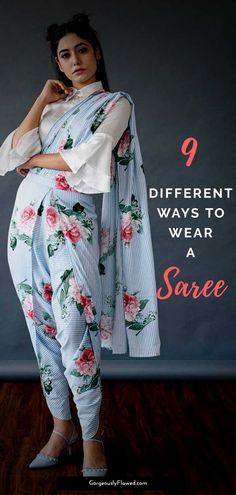 9 Different Ways To Wear A Saree is part of Dhoti saree - Saree will always remain the most beautiful and elegant Indian attire for us desi women! And with the everevolving fashion trends out there, we have seen Indowestern Saree, Dhoti Saree, Lehenga Choli, Saree Blouse, Indian Fashion Trends, Indian Bridal Fashion, Ethnic Trends, African Fashion, Saree Draping Styles