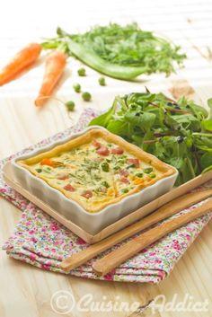 Quiche aux petits légumes nouveaux / Small vegetable quiche
