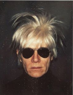 "Andy Warhol, Self-Portrait in Fright Wig, 1986 © The Andy Warhol Foundation for the Visual Arts, Inc. -- saw Warhol on the street a couple of times in the and he was always wearing a version of these white ""fright"" wigs and all black. Andy Warhol Marilyn, Andy Warhol Pop Art, Andy Warhol Portraits, Andy Warhol Quotes, Robert Mapplethorpe, Robert Rauschenberg, The Velvet Underground, Pop Art Poster, Poster Wall"