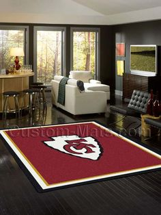 Custom-Mats by Gallant | Custom Mats - Kansas City - Kansas City Chiefs NFL Spirit Rug -