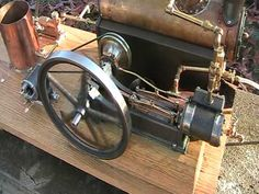 ▶ STEAM ENGINE completed with dynamo and live boiler feed pump - YouTube