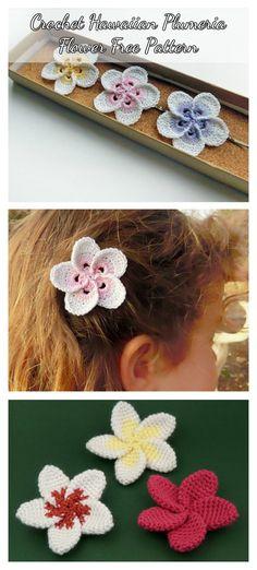 Crochet Hawaiian Plumeria Flower Free Pattern