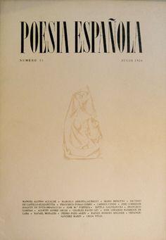 """Portada del Número 31 de """"Poesía española""""   José García Nieto. Como homenaje a Celía Viñas se incluyen dos poemas inéditos de ella."""
