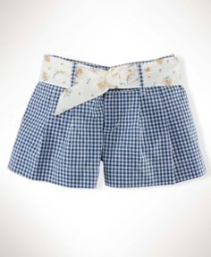 Ralph Lauren Kids Shorts, Girls Gingham Shorts - Kids Girls 7-16 - Macy's