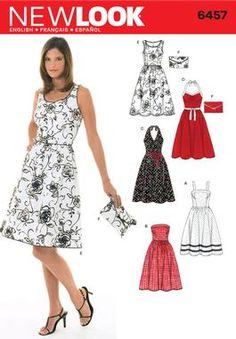 Womens Dresses and Purse Pattern 6457 New Look Patterns