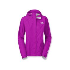 The North Face Venture Rain Jacket ($99) ❤ liked on Polyvore featuring outerwear, jackets, rain jacket, the north face, purple jacket, shell jacket and the north face jackets