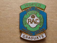 RAC Royal Automobile Club ACU Moped Graduate Motor Car Cycle  Enamel Badge 1960s