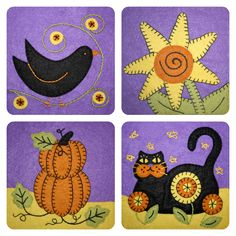 October Applique Blocks | Wee Folk Art