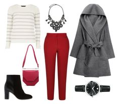 """""""Red Trousers Set n.2"""" by nika-yer on Polyvore featuring мода, River Island, Pink Haley, Dorothy Perkins, Lydell NYC и Movado"""