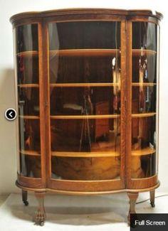 Fine Quality Burr Walnut Display Cabinet Circa 1910 Glass Queen Anne Glazed