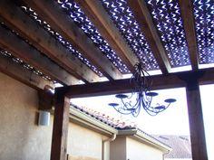Metal ceiling, oh I love a rainy night! So romantic