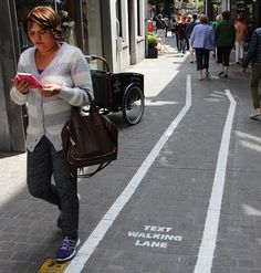 Phone Addicts Get Their Own Text-Walking Lanes In Belgium | Bored Panda