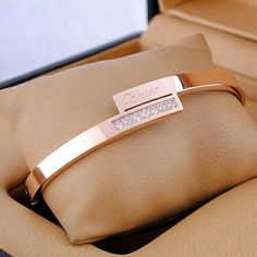 Rose gold Cartier cuff