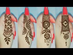 Most❣Atractive Finger Tattoo Designs Finger Tattoo Designs, Henna Tattoo Designs Arm, Simple Henna Tattoo, Mehndi Designs Book, Mehndi Designs For Girls, Mehndi Design Images, Mehndi Designs For Fingers, Dulhan Mehndi Designs, Mehndi Designs For Hands