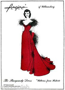 dresses from gone with the wind   Gone with The Wind Scarlett's Burgundy Dress Pattern Pegee of ...