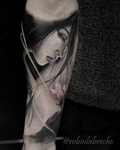 Geisha tattoo by Robin Labreche