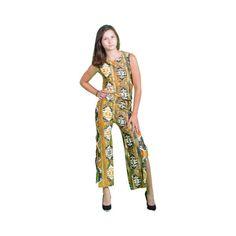 Mina Moriarkh Gold Mechico Overall Dress Unique Designer   eBay found on Polyvore