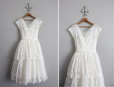 Beautiful, short, vintage, lace wedding dress!