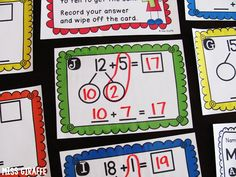 Making a 10 to Add - must read for a ton of great tips to teach this in 1st grade
