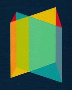 geometry art | ... Planes' - 13' x 16' modern geometric abstract art from MAGNA Paint