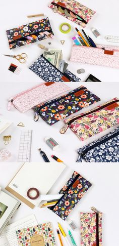 These Pour Vous Flat Pen Cases are so lovely. Why not use them to hold everything! Make it a pencil pouch, clutch, craft supply holder, and so much more!