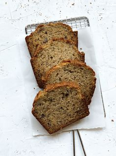 SOUR CREAM BANANA BREAD - SALTED sweets Sour Cream Banana Bread, Easy Banana Bread, Banana Bread Recipes, Staple Recipe, Yummy Treats, Yummy Food, Sweets Recipes, Desserts, Food Staples