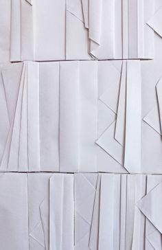 Detail of the folded paper wall at Ori Higashiya