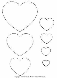 my craft notebook : kalp şablonları…heart template / Photo Nika Felt Templates, Applique Templates, Applique Patterns, Card Templates, Diy And Crafts, Crafts For Kids, Arts And Crafts, Paper Crafts, Heart Template