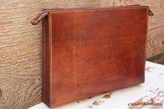 Document Case (colour cigar) by CHARTERMADE on hellopretty.co.za