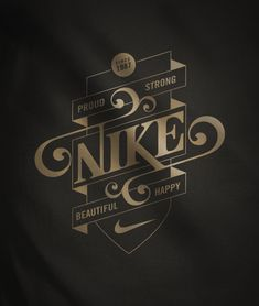 Mats Ottdal does amazing Typography work. #Nike #Typography