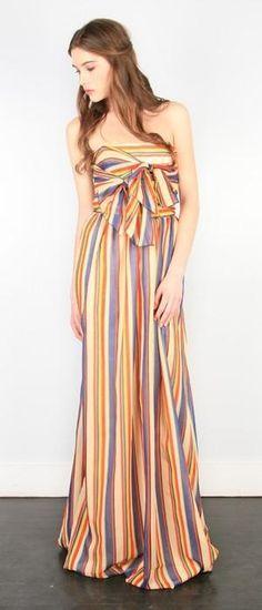 stiped maxi dress by elinor