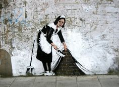 Amazing Graffiti by Banksy close to the Roundhouse - Camden Town, London by canonsnapper, via Flickr