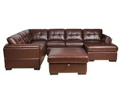Paradise Blended Leather Sectional With Chaise