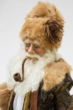 Pere Noel Santa Doll Pear Noel OOAK by WaltCarterSantas on Etsy