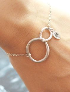 Silver Interlocking Initial Bracelet (also in gold)